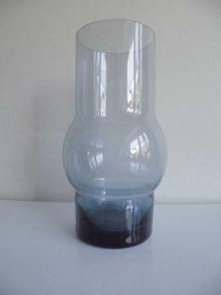 60er Jahre/ 60 ' S Mid - Century Glasvase Rauchglas Blau Wmf 18,  5 Cm Bild