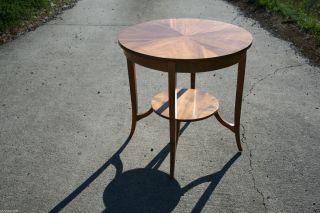Tisch Tische Rund Nussbaum Antik Barock Antik Massiv Biedermeier Um 1750 Furnier Bild