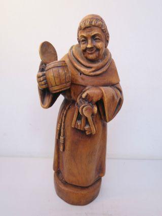 Op98) Mönch Kellermeister Aus Holz Bild