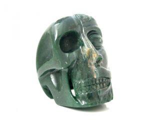 Skulptur Janus Wendekopf Aus Jade Schädel Totenkopf Skull Handarbeit 800 Gramm Bild