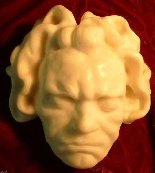 Beethoven Porträt Komponist Totenmaske Alabaster Französische Widmung Bild