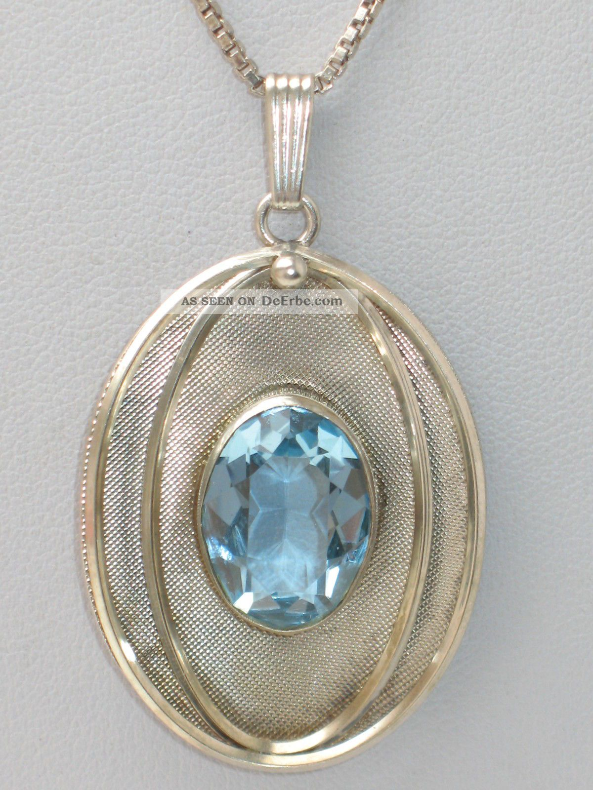 Art - Deco 835er Silber Anhänger Großer Aquamarin Meister K l Design, Kette  Bild 57f7975548