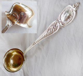 Silber Suppenkelle Schöpfkelle Alt 1860 Top - Erhaltung 195g Schöpfkelle Vergoldet Bild
