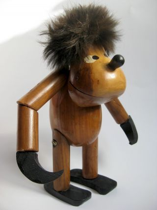 Bojesen Teak Affe Klammeraffe Troll 1960er Jahre Vintage 18 Cm Bild
