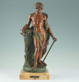 Große Jugendstil Skulptur Die Arbeit Frankreich Um 1900 V.  Constant Le Travail Bild