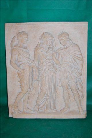 Rielief Griechische Sagen Skulptur Orpheus Eurydike Hermes Replik Von 1984 Bild