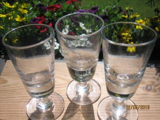 3 Alte Französische Kaffeegläser Trinkglas Antik Schwer Mundgeblasen Bild