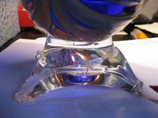 Alte Jugendstil Kristall Vase,  Toll Geformt,  Schwer,  18 Cm Bild