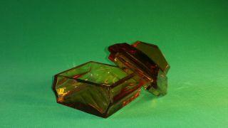 Antike Glass Schmuck Schatulle Aus Den 1920 Jahren Bild