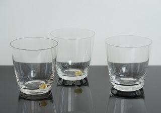 Rosenthal Kristall Glas 3x Wasserglas Becher Form 2000 Design Loewy 50er Jahre Bild