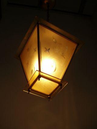 Lampe Art Deco Glas Alt 20er 30er Geschliffen Laterne Bild