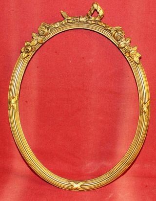 1900 Antiker Prunk Gold Holzrahmen 30 X 24 Bilderrahmen Goldverziert Barock Bild