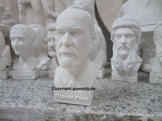 Sigmund Freud Gips BÜste Psychiater Und Neurologe 1856 – 1939 SchÖn Deko Bild