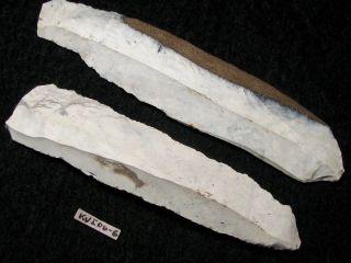 7200j.  A: 2 Messer Steinzeit Mesolithikum Flint Silex Ellerbek ErtebÖlle K Bild