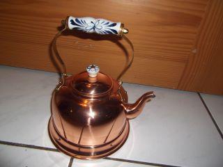 Kupfer Wasser - Teekessel Bild