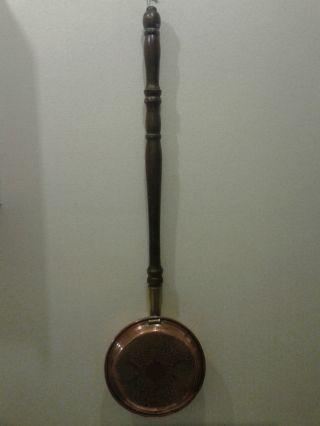 Bettofen Aus England Webaware Kupfer Mit Messing Halterung Und Stiel Aus Holz Bild