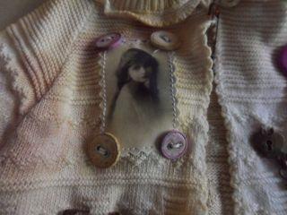 Shabby-Vintage Jäckchen NEU 100 % Handarbeit für ca.35-40 cm Bär oder Puppe