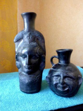 Volkskunst (afrika/Ägypten?) Ton (keramik) Vasen Duo Bild
