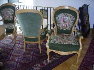 Vier Sessel Mit Tisch Barock Stil Bild