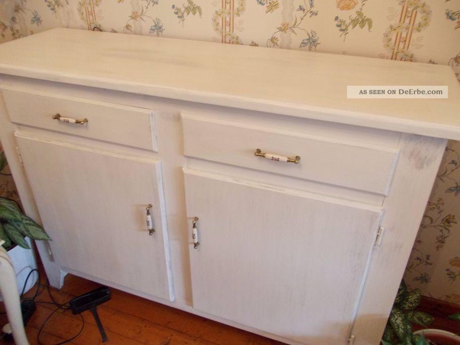 anrichte kommode sideboard k chenschrank shabby wei unterschrank schrank. Black Bedroom Furniture Sets. Home Design Ideas