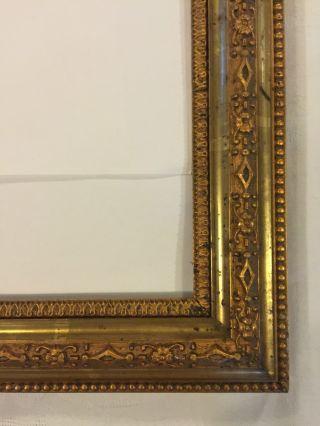 Bilderrahmen Alt Blattvergoldet Massiv Holz Mit Stuckauflage Frankreich Um 1880 Bild