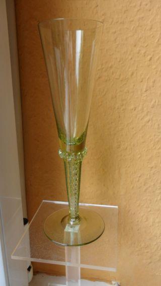 Theresienthal ?? Sammlerglas Sektglas Mit Luftspiralen Bild