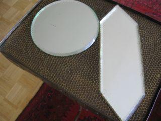 Sehr Alte Untersetzer Aus Spiegelglas Für Den Fein Gedeckten Tisch Bild