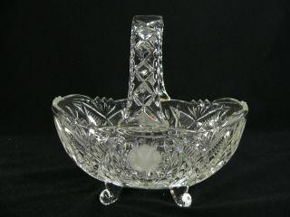 Korb Aus Kristall Auf Schneckenfüßen Mit Sehr Schönem Schliff Bild