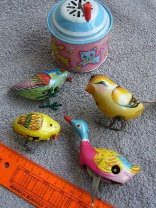 Altes Blechspielzeug Konvolut 4 Vögel Aus Sammlernachlass Bespielt Bis 12 Cm Bild