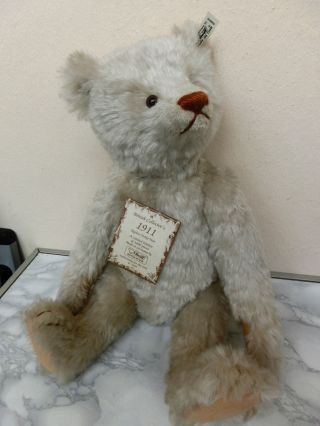 Steiff British Collector`s Teddy 1911 / 1992 42 Cm K/f/s/z/karton Bild