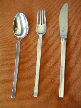 Tafelbesteck Wmf York 90er Silber Messer,  Gabel,  Löffel Bild