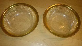 2 X Eisch Schale M.  Gold Rand Kristallglas 18 Karat Bild