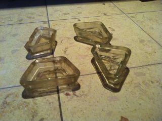 4 Glasfüße Untersetzer Glas Löwenfüsse Für Stangenherd Küchenherd Küppersbusch Bild