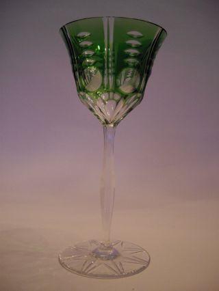 Traumhafter Römer/ Weinglas Bleikristall Smaragdgrüner Überfang Bild