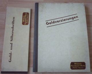 Musterkataloge,  Musterbuch Goldverzirungen,  Wickels Metallpapier Fürth,  Bayern Bild