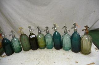 9733.  10 Alte Sodaflaschen Siphonflasche Old Soda Siphon Seltzer Bild