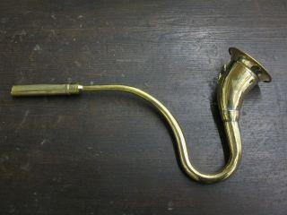 Messing Stethoskop Hörrohr Hearing Pipe Hörmaschine Hörverstärker 40cm Bild