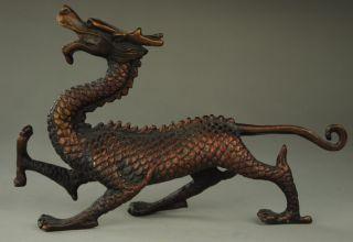 Chinese Zodiac Pure Bronze Myth Fengshui Dragon Head Statue Sculpture Bild