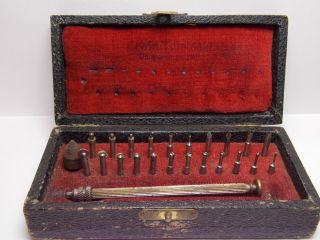 Altes Uhrmacher Werkzeug Rollensenker - Flachfräser - Zapfenfräser In Ovp Bild