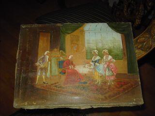 Altes Ölgemälde Signiert,  Wohl Um 1870 Bild