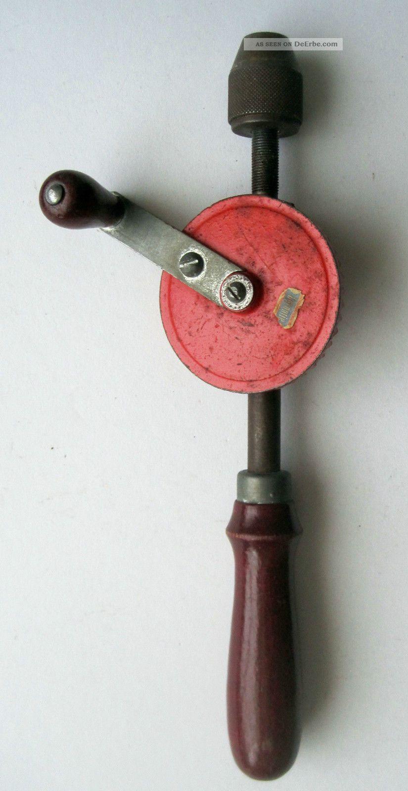 Altes Werkzeug / Alter Handbohrer / West - Germany Zimmermann Bild