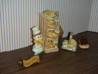 1:24 Bäckereiregal/backboy,  Backwaren Für Die Minipuppenstube1:24 Catrichen Bild