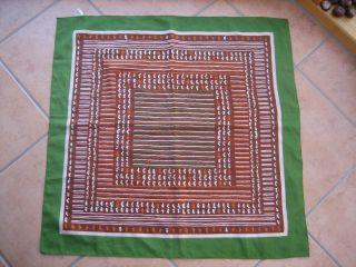 Tuch,  Schal Aus Den 70er Jahren In Grün,  Braun,  Weiß Und Orange Bild