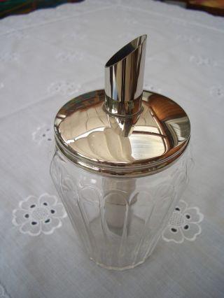 50er Jahre Glas - Zuckerstreuer Süßer Heinrich Fa.  Helly D.  B.  P Bild
