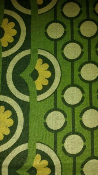 Vintage Bettwäsche 70er Jahre Stoff Nähen Bezug Kissen Blumen Gelb Grün Dawanda Bild