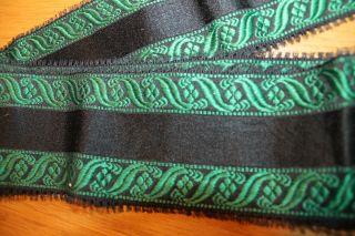 Schwalm Schwälmer Tracht Seidenband Hessen Folk Costume Silk Ribbon 107 Cm Bild