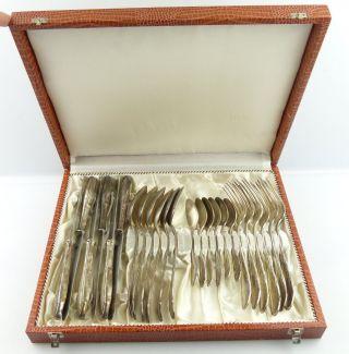 24 Teiliges Altes Besteck In 90er Silberauflage E691 Bild