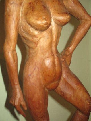 Expressive Holzfigur Aus Lindenholz