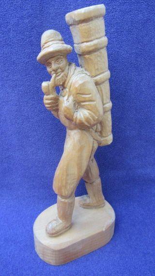 Holzfigur,  Winzer,  Echtholz,  Ca.  35 Cm Bild
