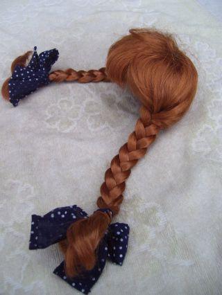 Alte Puppenteile Feuerrotezoepfe Haar Perücke Vintage Doll Hair Wig Fuer40c Girl Bild